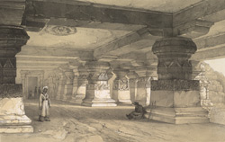 Ellora.  Interior of Lanka
